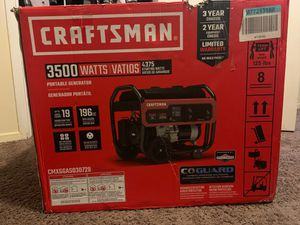 Craftsman 4375-Watt Gasoline portable generator with Briggs & Stratton Engine for Sale in Bakersfield, CA