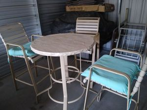 3 bar stools patio set for Sale in Stockton, CA