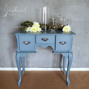 Blue Gray Queen Anne Style Entry Table/ Console / Vanity for Sale in Austin, TX