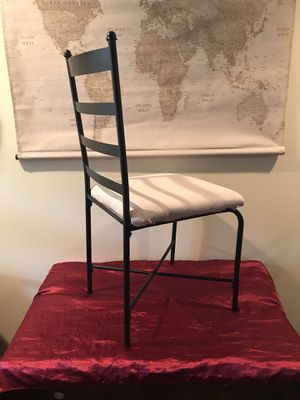 Simple lightweight metal chair for Sale in Tacoma, WA