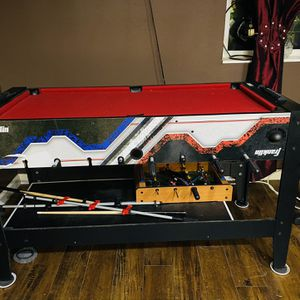 4 In One Entertainment Center, Mini Pool, Ping Pong, Hockey And Foos Ball for Sale in Gresham, OR