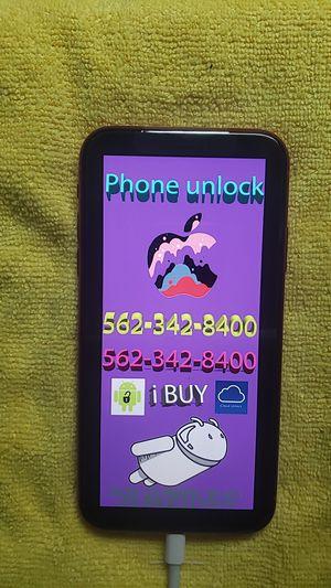 Locked iPhone X Unlock 8 plus xs for Sale in Los Angeles, CA