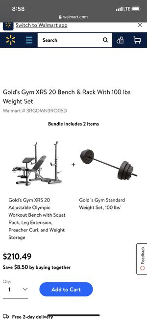 Gold gym home weight bench brand new in box for Sale in Brockton, MA