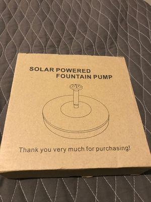 Solar powered fountain pump for Sale in Dallas, TX