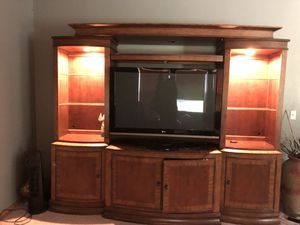 Solid cherry wood entertainment center for Sale in McCleary, WA