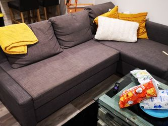 IkeaSleeper sectional,3 seat w/storage, dark gray for Sale in Chicago,  IL