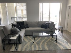 Versatile glass coffee table and end tables. Barely used! for Sale in Tampa, FL