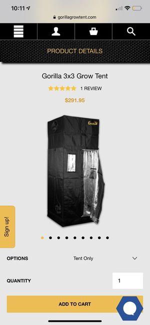 Gorilla 3x3 Grow Tent for Sale in Pompano Beach, FL