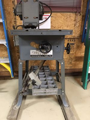 "Vintage 1970's Delta Rockwell 10"" Contractor's Special Table Saw # 34-338 for Sale in Columbia Station, OH"