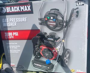Black Max 3100 PSI Gas Pressure Washer 2.5 GPM for Sale in Ontario, CA