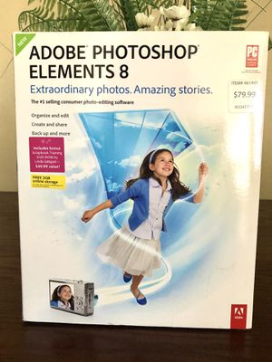 Adobe Photoshop Elements 8 for Sale in Modesto, CA