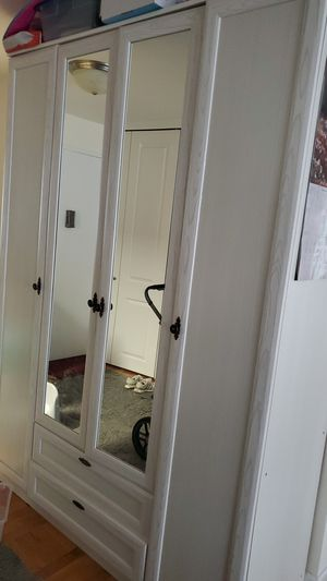 Wardrobe closet with mirror for Sale in New York, NY