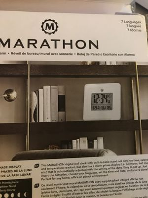 Marathon wall/ desk clock with alarm for Sale in Rancho Cucamonga, CA