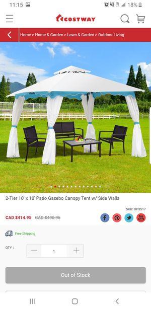 10x10 Gazebo Canopy Tent w/ Side Walls for Sale in Hesperia, CA
