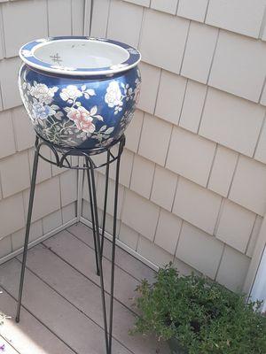 Oriental flower pot for Sale in Marlborough, MA