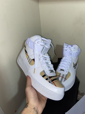 Burberry customs AF1s for Sale in Draper, UT