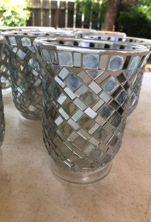 """10 Mosaics Mirror Candle Holders 6"""" Tall for Sale in Clovis, CA"""