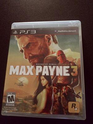 Max Payne 3 ps3 for Sale in Stockton, CA