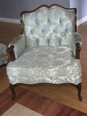 Antique French style sofa and chair for Sale in San Bernardino, CA