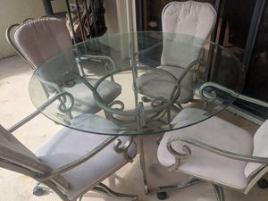 Wrought iron dinette set. for Sale in St. Petersburg, FL