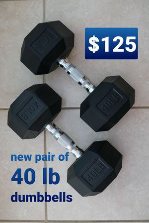 40 lb pair of hex dumbbells - New for Sale in Rancho Cucamonga, CA