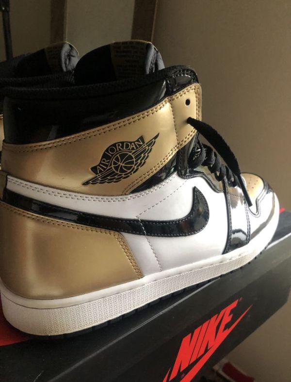 Nike Air Jordan Retro 1 Gold Toe NRG Size 13