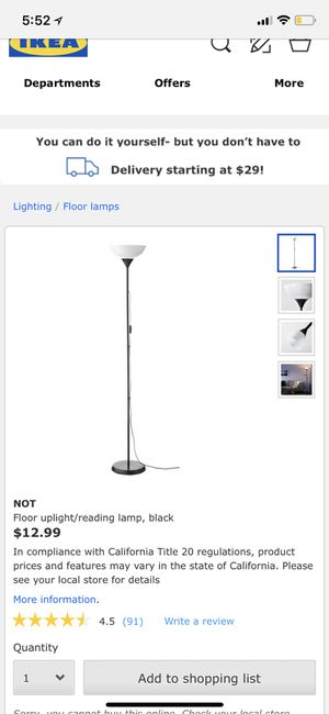 ikea floor lamp for Sale in Philadelphia, PA