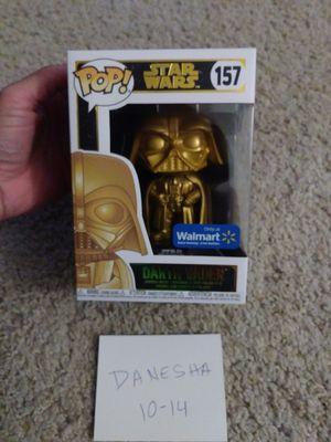 Star Wars Darth Vader gold metallic funko pop, walmart exclusive for Sale in Manassas, VA