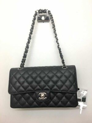 Chanel Double flab Medium Caviar skin and Silver hardwear for Sale in Silver Spring, MD