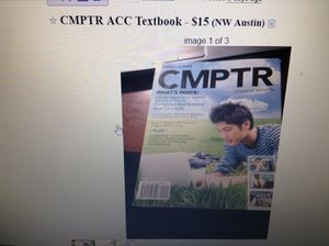 CMPTR ACC Textbook (like new) for Sale in Austin, TX