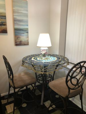 Glasses table and two chairs for Sale in Fairfax, VA