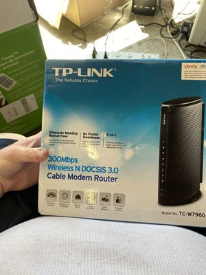 Tp-link cable modem router wireless n docsis 3.0 for Sale in La Vergne, TN