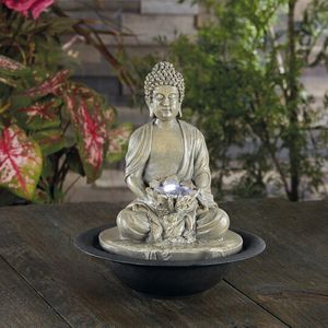 Buddha Water Fountain With Led Lights Lighted Waterfall for Sale in Pembroke Pines, FL