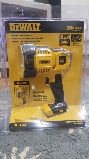 DEWALT 20-Volt Max 1000-Lumen LED Rechargeable Power Tool Flashlight- tool only for Sale in Washington, DC