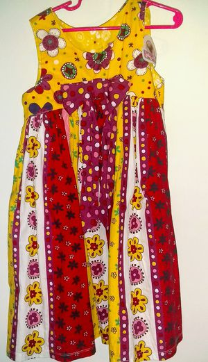 New with Tags Jelly Pugh Dress - Girls Size 6 X - Multi Color / Red Yellow for Sale in Nashville, TN