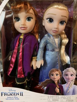 Brand New!! Never Opened!! Frozen II Anna &Elsa Dolls for Sale in Elgin, IL