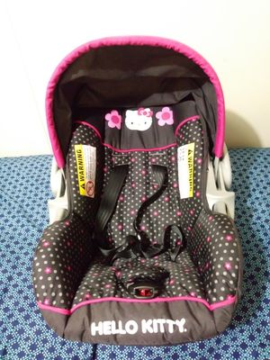 Baby Trends Hello Kitty car seat and base for Sale in Raleigh, NC