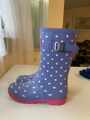 Jonles Rain boots girls size 6 EUC for Sale in Miami, FL