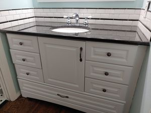 "52"" Bathroom Vanity - Single sink, Black Granite for Sale in Redmond, WA"