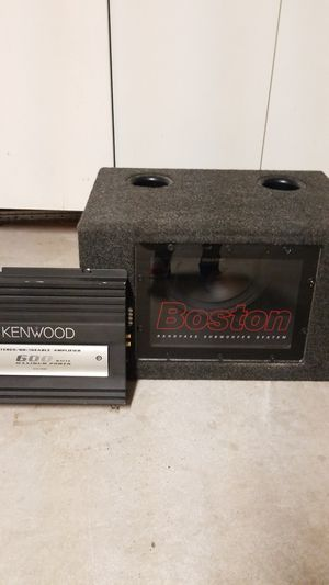 "10"" Bandpass Subwoofer w/600 watt amplifier for Sale in Chula Vista, CA"