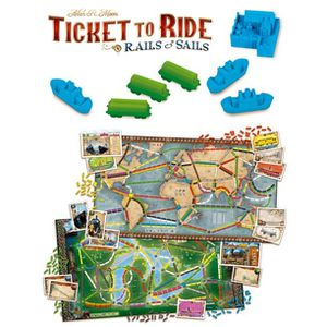 Ticket to Ride: Rails & Sails Strategy Board Game for Sale in Houston, TX