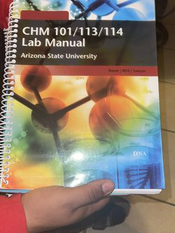 ASU CHM 101/113/114 Lab Manual for Sale in Phoenix,  AZ