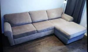 Sofa with chaise(Raymour & Flanigam) for Sale in Philadelphia, PA