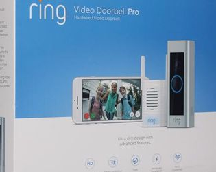 Ring Ring - Video Doorbell Pro and Chime Pro Bundle - Satin Nickel,new, Unopened ,still In The Box for Sale in Irving,  TX