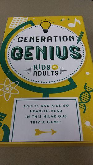 Generation Genius Trivia Game for Sale in Mission, KS