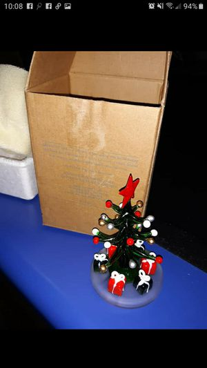 New Avon glass christmas tree for Sale in Motley, MN