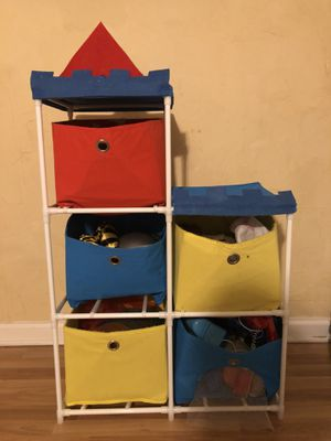 Kids toy storage organizer with collapsible storage bins - must sell make an offer for Sale in Gastonia, NC