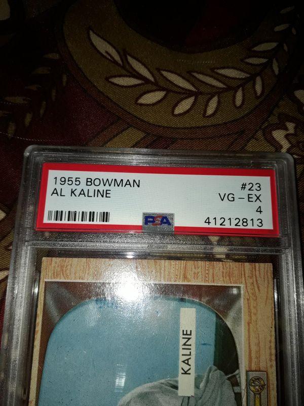 1955 Bowman Al Kaline PSA 4