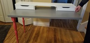 Ikea desk (2 legs, drey top, and white store top) for Sale in Bolingbrook, IL