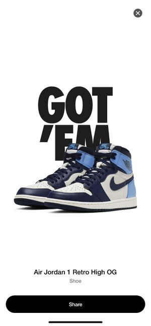 "Air Jordan 1 Retro High OG OBSIDIAN ""UNC"" Size 11.5 for Sale in Sunrise, FL"